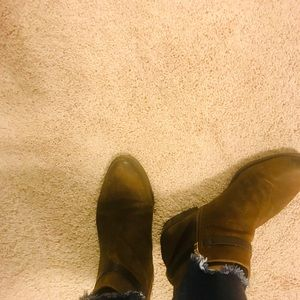 Franco Sarto Brown Ankle Boots